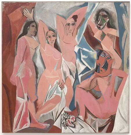 Les Demoiselles d'Avignon by Pablo Picasso in the Museum of Modern Art in New York