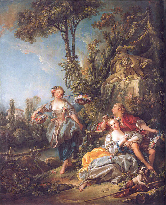Lovers in a Park in a Park by François Boucher in the Timken Museum of Art in San Diego