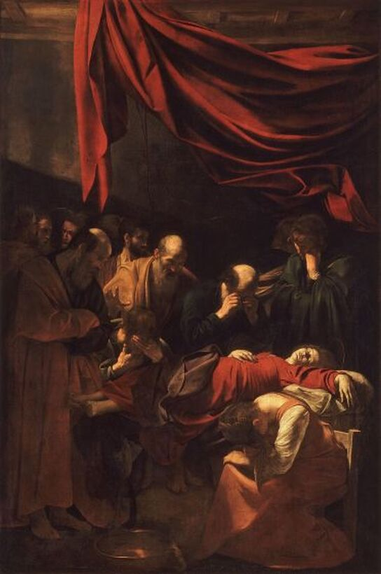 Death of a VIrgin by Caravaggio in the Louvre in Paris