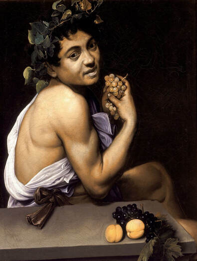Young Sick Bacchus by Caravaggio in the Galleria Borghese in Rome