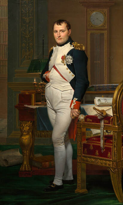 The Emperor Napoleon in his Study at the Tuileries, 1812 by Jacques-Louis David in the National Gallery of Art in Washington, DC