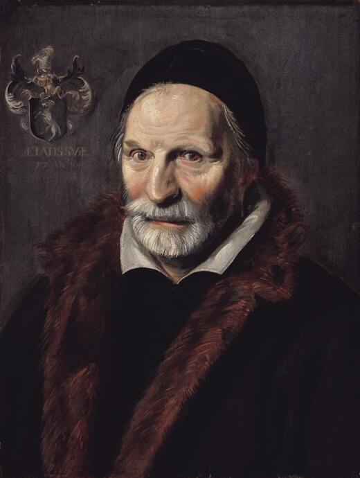 Portrait of Jacobus Hendricksz. Zaffius by Frans Hals in the Frans Hals Museum in Haarlem