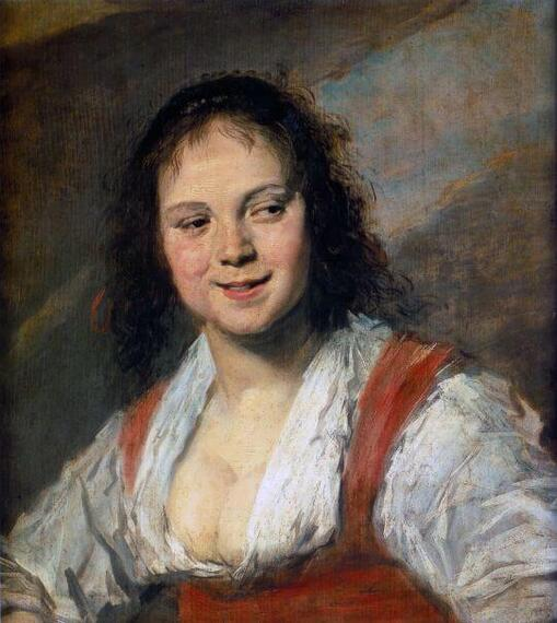 Gypsy Girl by Frans Hals in the Louvre Museum in Paris