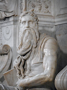Statue of Moses by Michelangelo in the San Pietro in Vincoli church in Rome