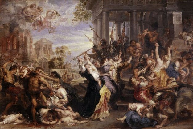 Massacre of the Innocents by Peter Paul Rubens in the Alte Pinakothek in Munich