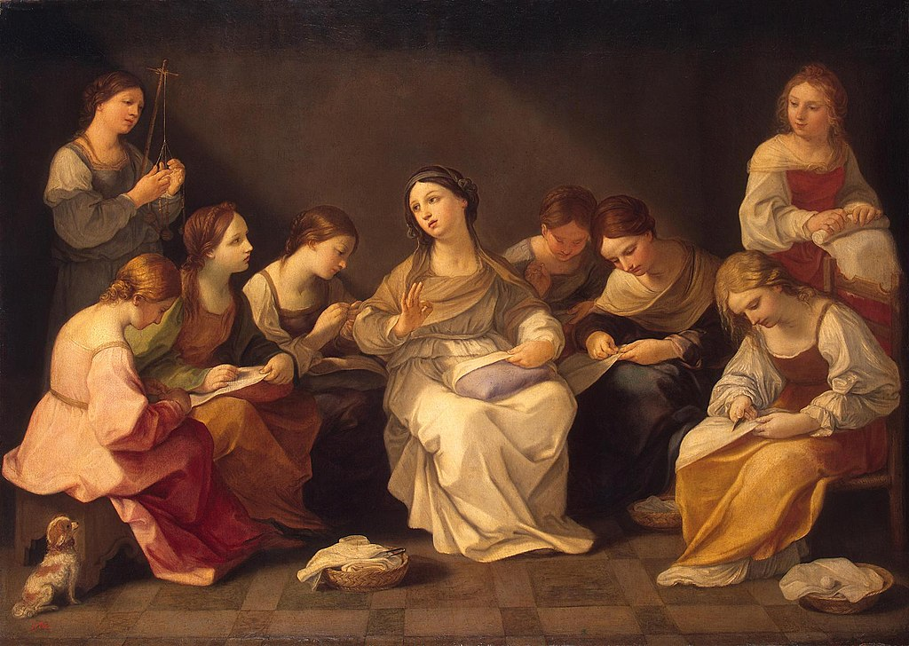 Education of the Virgin by Guido Reni in the Hermitage Museum in St. Petersburg