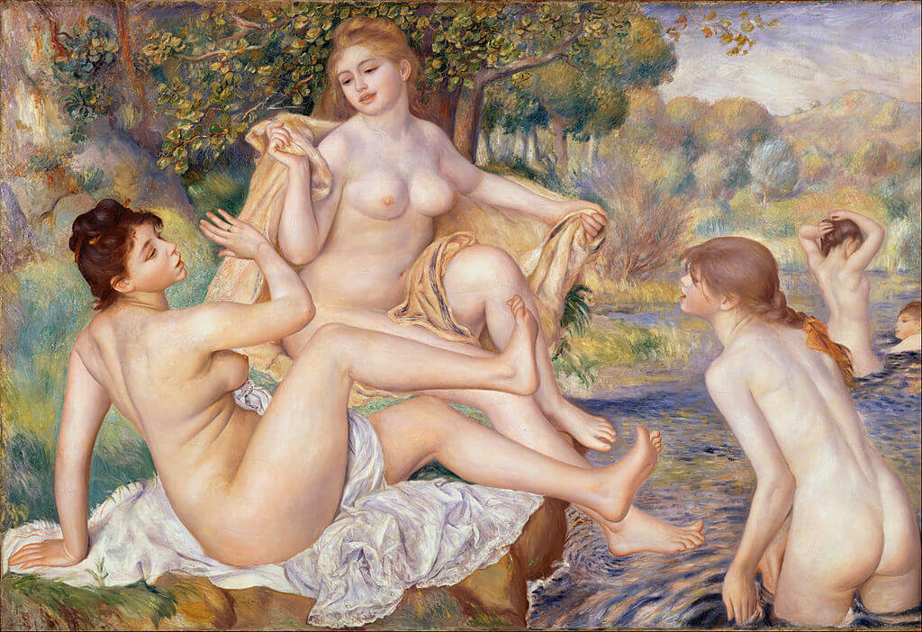 The Large Bathers by Pierre-Auguste Renoir in the Philadelphia Museum of Art