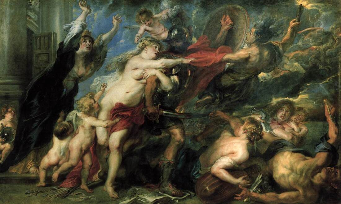 Consequences of War by Peter Paul Rubens in the Palazzo Pitti in Florence