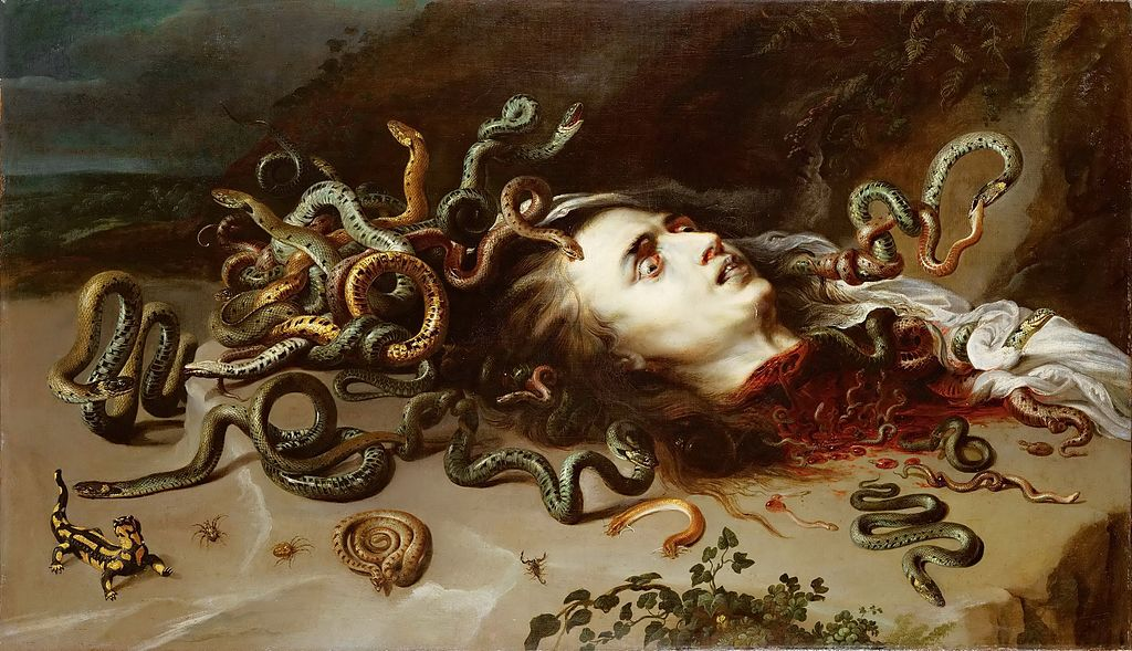 Head of Medusa by Peter Paul Rubens and Frans Snyders in the Kunsthistorisches Museum in Vienna