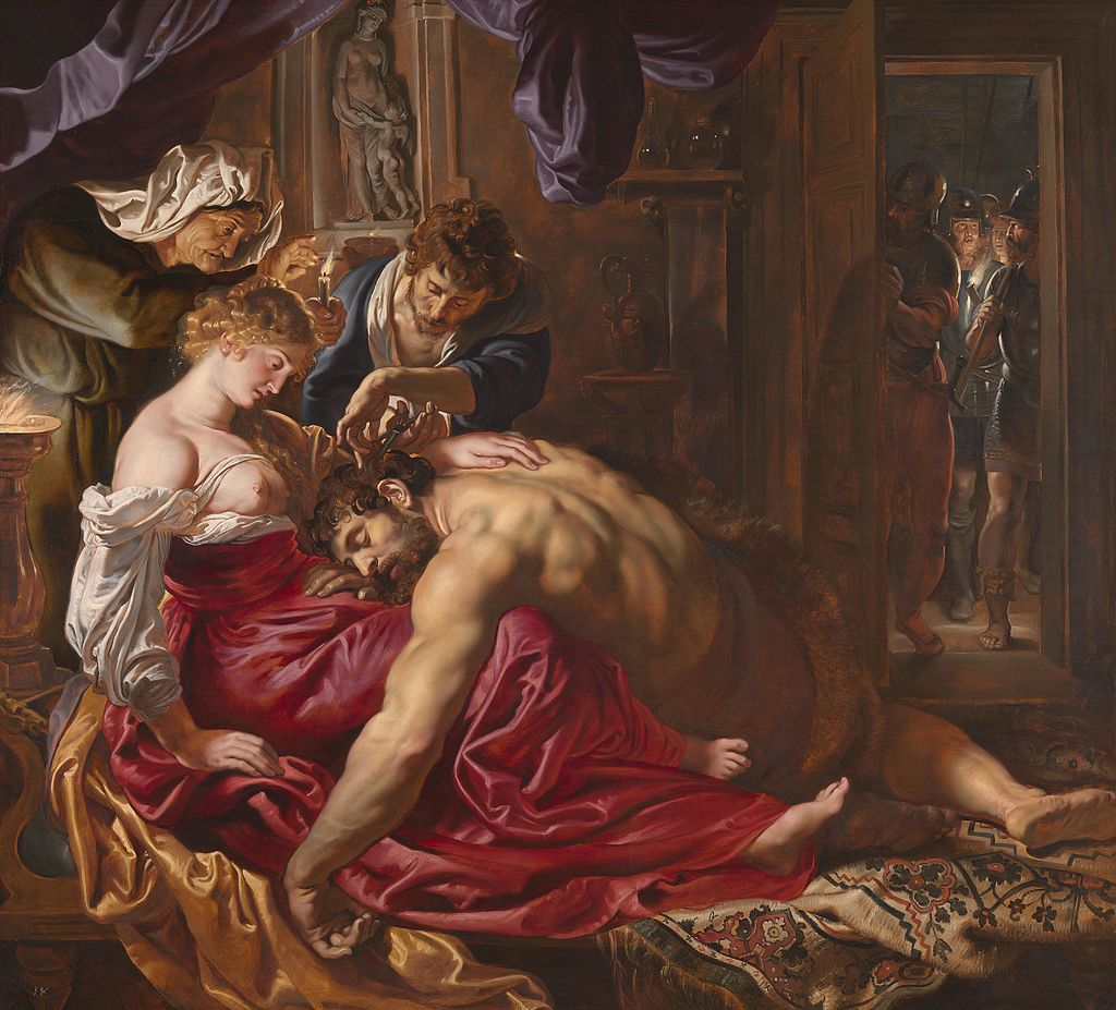 Samson and Delilah by Peter Paul Rubens in the National Gallery in London