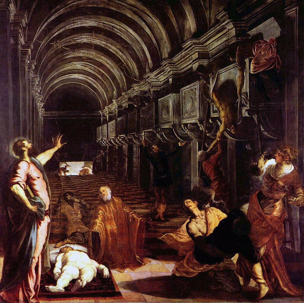 Finding of the Body of Saint Mark by Tintoretto in the Pinacoteca di Brera in Milan