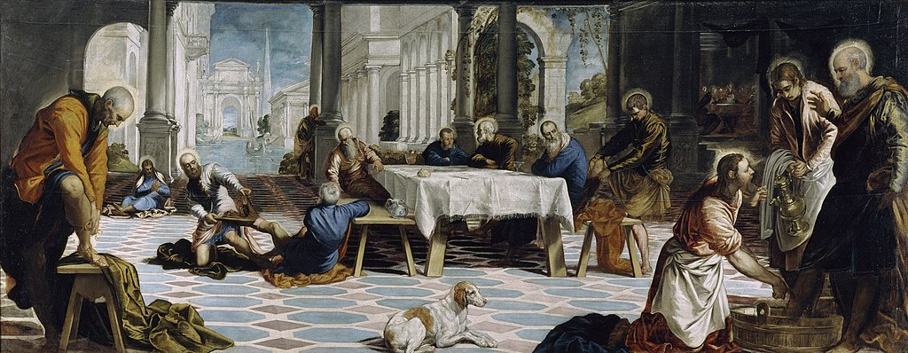 The Washing of the Feet by Tintoretto in the Prado Museum in Madrid