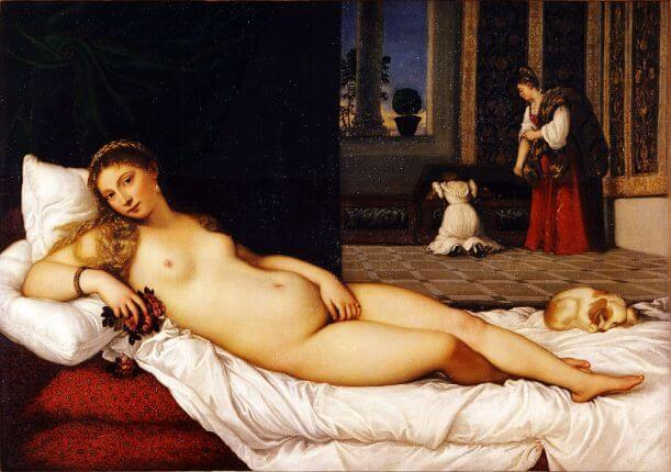 Venus of Urbino by Titian in the Uffizi Gallery in Florence