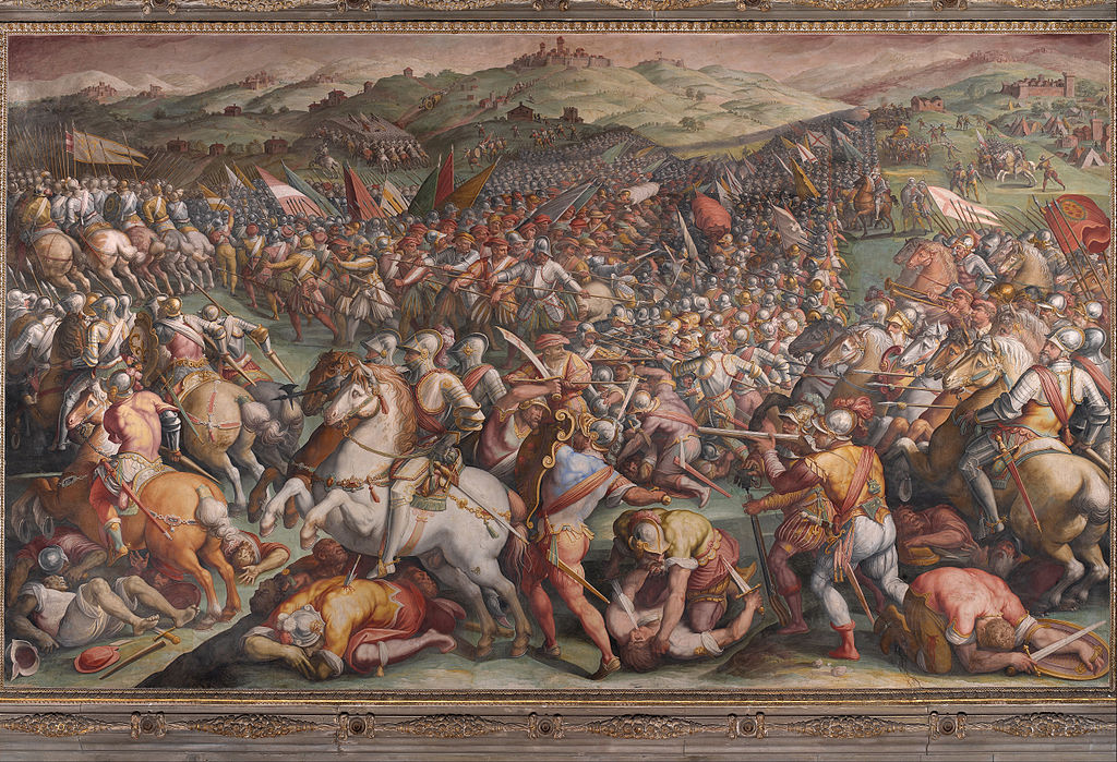 Battle of Marciano by Giorgio Vasari in the Palazzo Vecchio in Florence