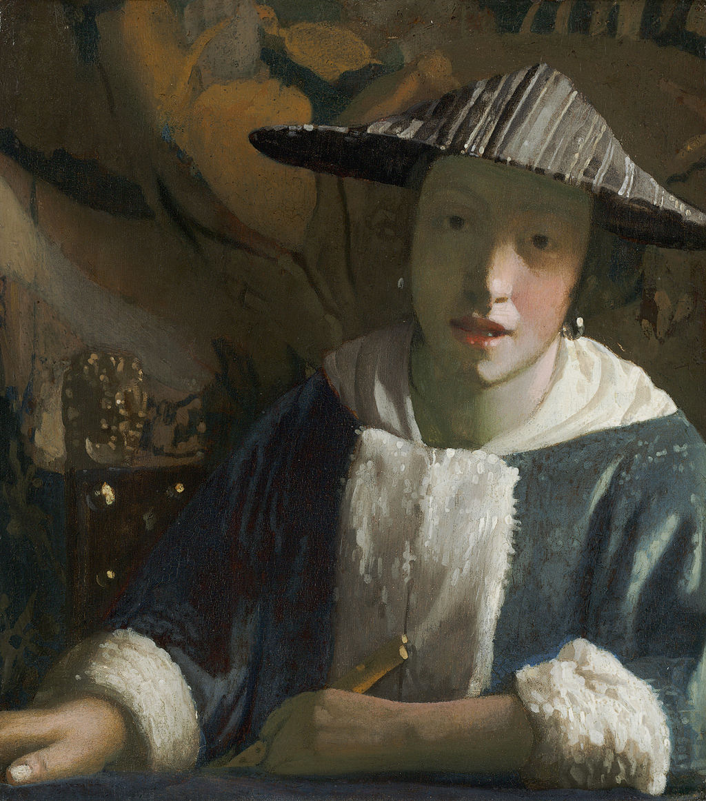 Girl with a Flute by Johannes Vermeer in the National Gallery of Art in Washington, DC