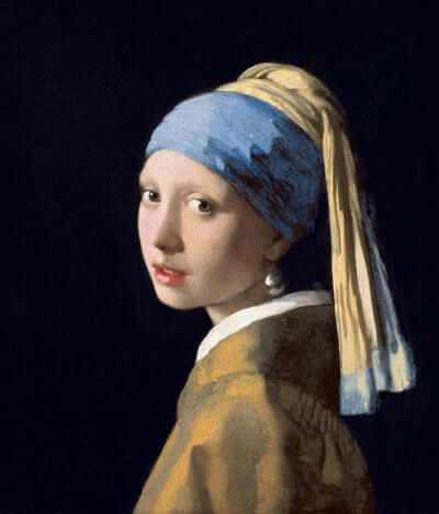 Girl with a Pearl Earring by Johannes Vermeer in the Mauritshuis in The Hague