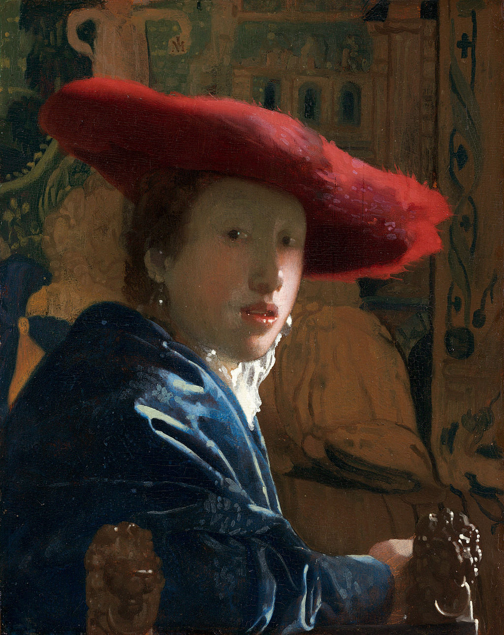 Girl with a Red Hat by Johannes Vermeer in the National Gallery of Art in Washington, DC